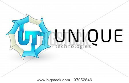 Logo template, technologies, inventions, game logo, gamers logo, creative, business, unique