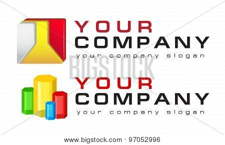 Vector logo template set, manufacturing, science, business