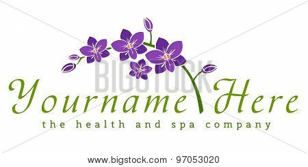 Logo template, healthcare, spa, cosmetics, beauty industry