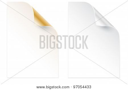 Two Papers With Bent Corner
