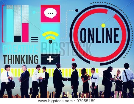 Online Communication Internet Networking Concept