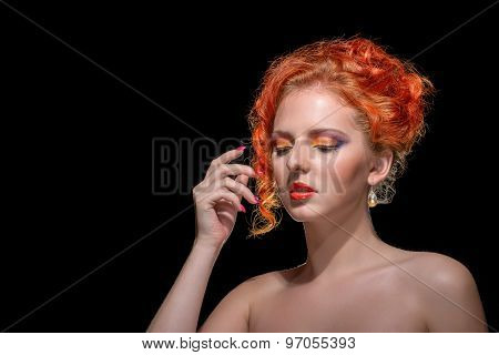 Red Haired Girl beauty Portrait