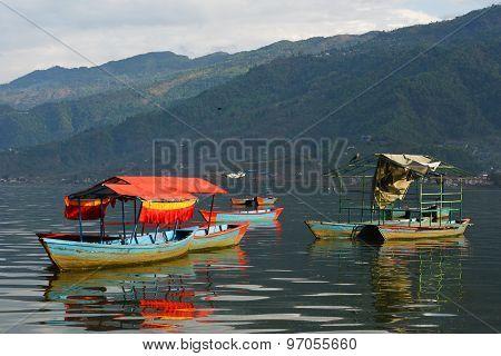 View Of Phewa Lake At Pokhara, Nepal