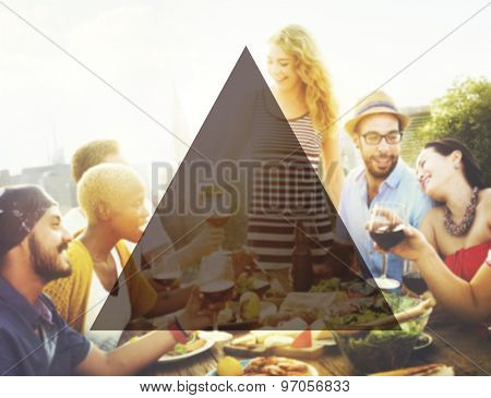 Summer Togetherness Friendship Triangle Copy Space Concept