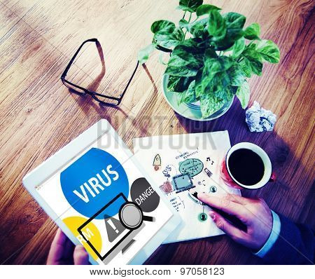 Virus Internet Security Phishing Spam Concept