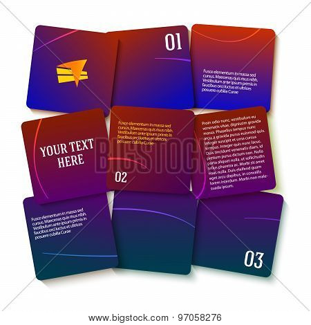 Presentation Template Purple Gradient Square Displacement