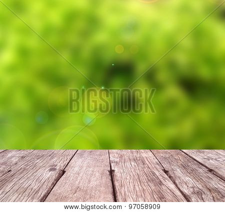 Green Abstract Blur Background