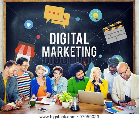 Digital Marketing Strategy Planning Thinking Business Concept