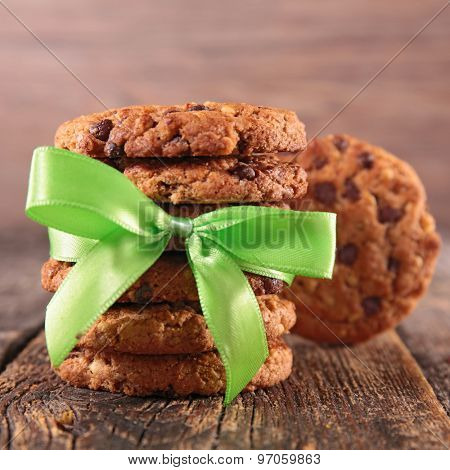 cookies and green bow