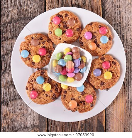 cookies with smarties