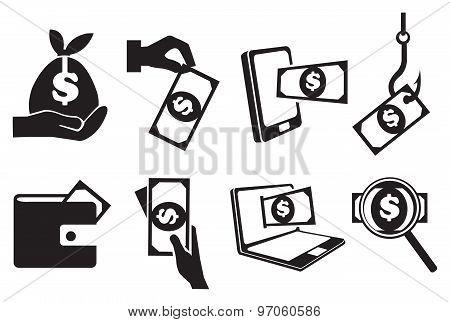 Money Vector Icon Set