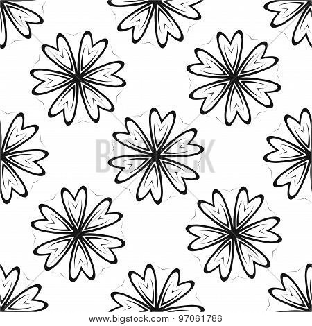 Abstract White Seamless Pattern
