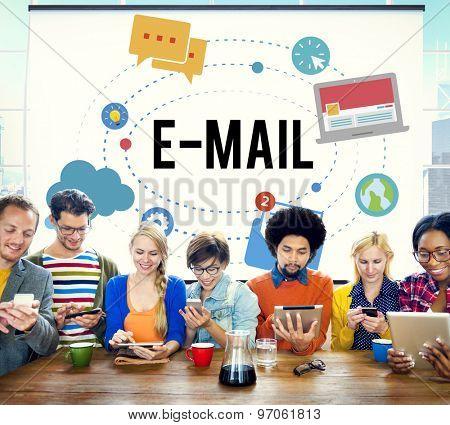E-mail Message Connection Communication Community Concept