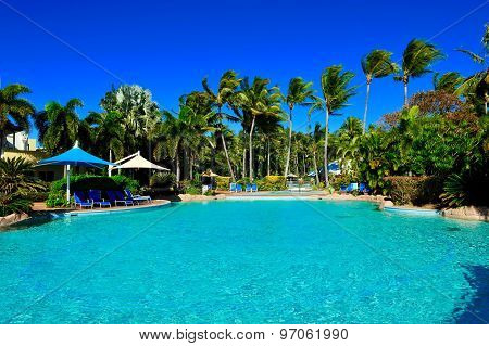 Beautiful resort with swimming pool at Daydream island