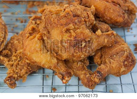Chicken Fried In Market.