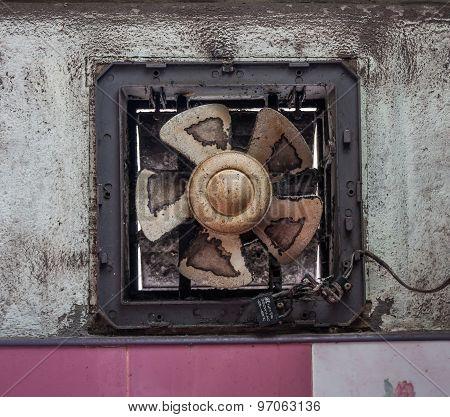 Ventilators Old Cement Wall.