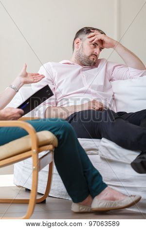 Depressed Man During Therapy