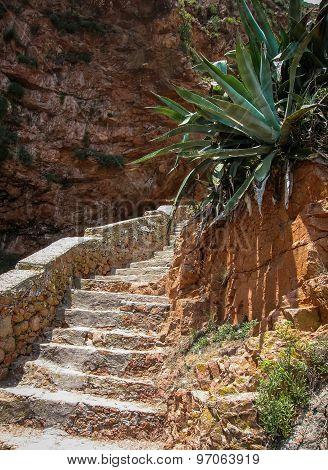 Stone Stairs In The Island Berlenga, Portugal
