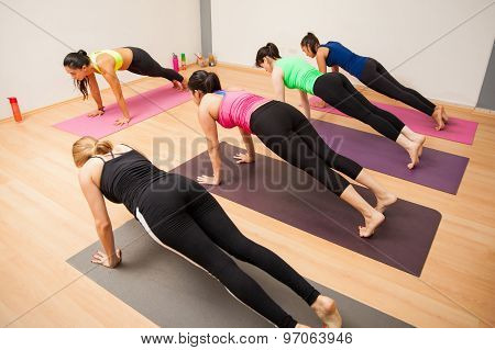 Working Out In A Yoga Studio