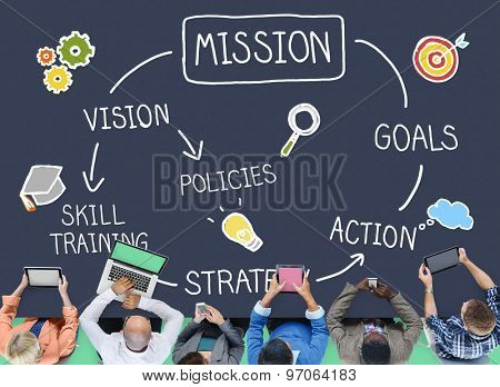 Mission Skill Training Action Inspiration Concept