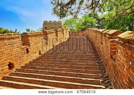 Stone Staircase Of Great Wall Of China, Section