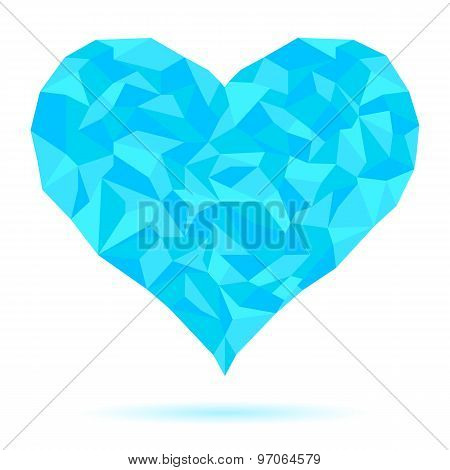 Icy-heart-isolated-on-white-background