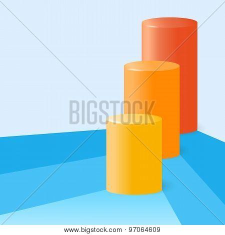 Infographics-cylinder-graph-histogram-percentage-statistics