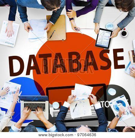Database Online Storage Technology Concept