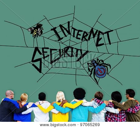 Internet Security Web Protection Safety Concept