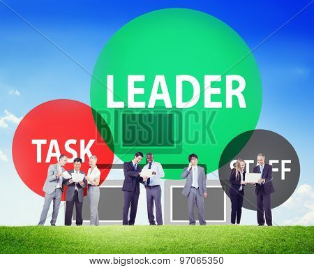 Leader Task Staff Teamwork Concept