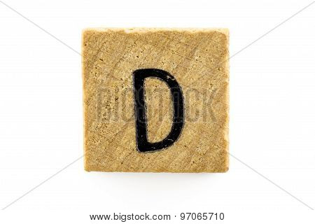 Wooden Alphabet Blocks With Letters D