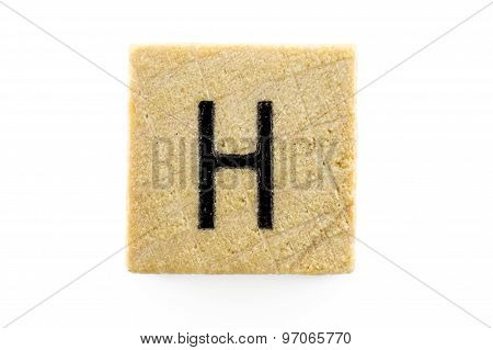 Wooden Alphabet Blocks With Letters H