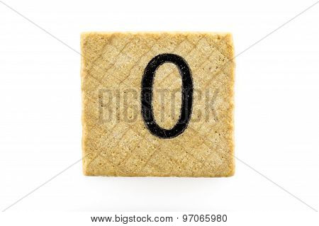 Wooden Alphabet Blocks With Letters O