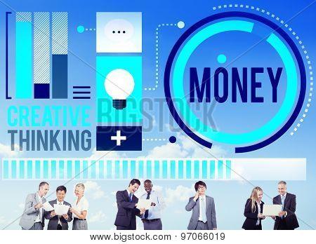 Money Accounting Banking Economy Exchange Wealth Concept