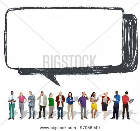 Speech Bubble Discussion Talking Symbol Concept