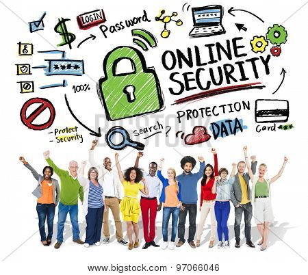 Online Security Protection Internet Safety People Success Concept