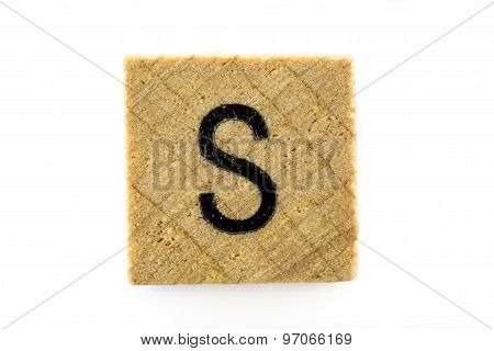 Wooden Alphabet Blocks With Letters S