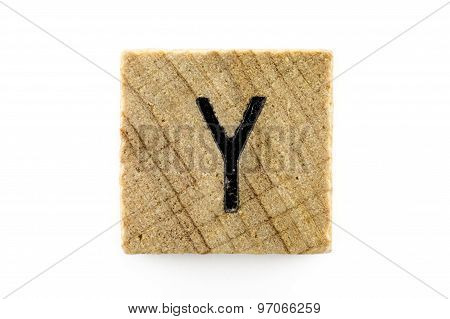 Wooden Alphabet Blocks With Letters Y