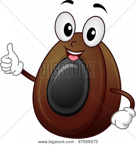 Background Illustration of a Century Egg Giving a Thumbs Up
