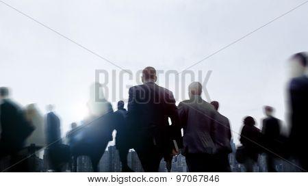 Business People Walking Commuter Pedestrian Cityscape Concept