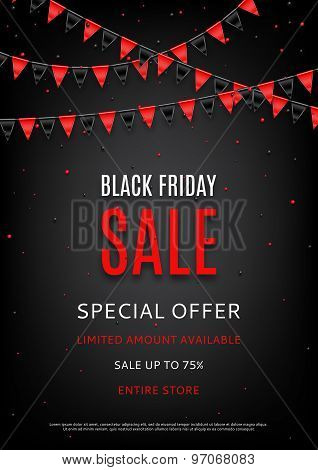 Design Of The Flyer Of Black Friday Sale