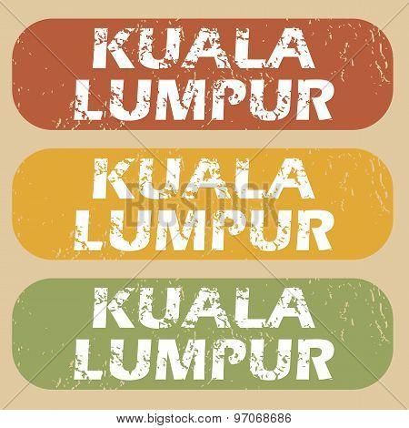 Vintage Kuala Lumpur Stamp Set