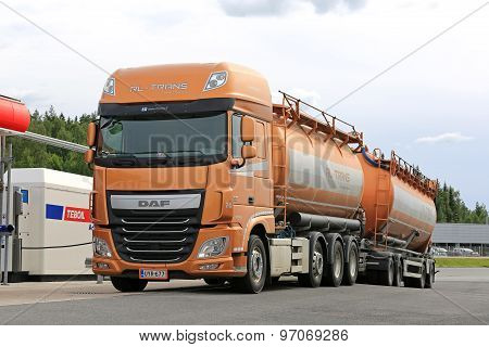 New DAF XF 510 Tank Truck Being Refueled