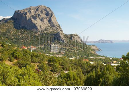 Mount Sokol and Black sea coast near Novy Svet, Crimea