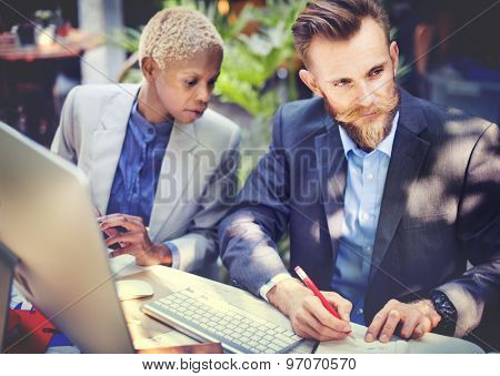 Business People Writing Notes Concept