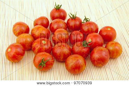 Group of fresh cherry tomatoes