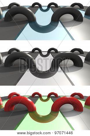curving arc 3D