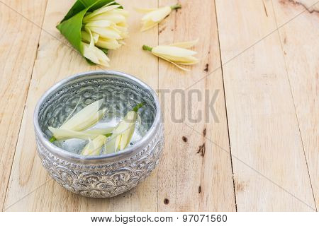 Water Drink With Champaka Flower.