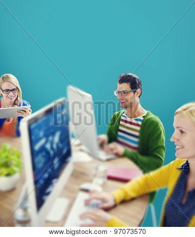 Hipster Technology Teamwork Collaboration Friendship Concept