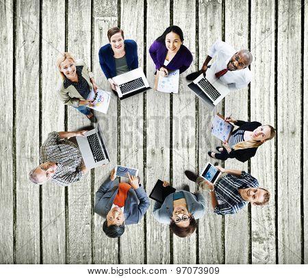 Global Communications Technology Laptop Digital Devices Concept